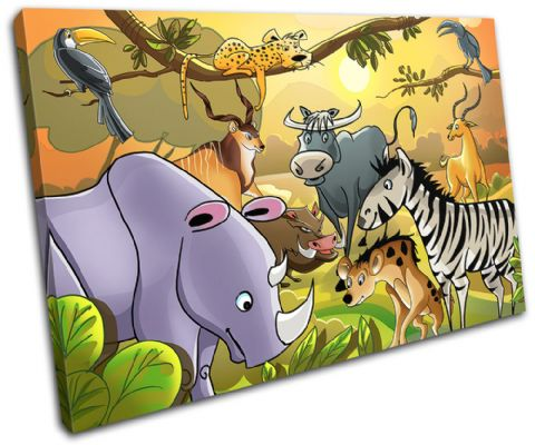 African Animals For Kids Room - 13-2130(00B)-SG32-LO